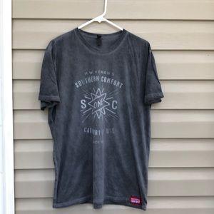 Southern Comfort men's gray&white tee shirt